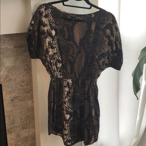 Snake Skin Print Dress by Express